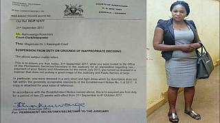 This dress got a female judiciary employee suspended in Uganda for indecency [Photo]