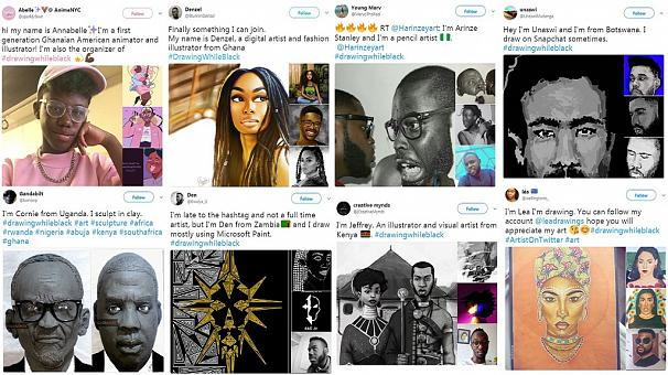 Black artists flaunt talents via trending Twitter hashtag, Africans join the party