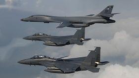 Amerikai bombázók szálltak Észak-Korea felé