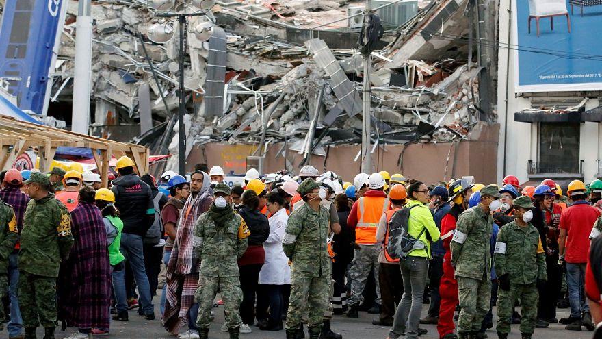 Imagens aéreas do sismo na capital mexicana