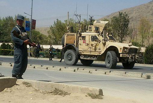 حمله به کاروان نیروهای ناتو در کابل