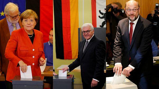 Os candidatos a chanceler da Alemanha já votaram