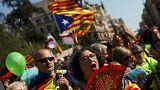 Catalães na rua a favor do referendo