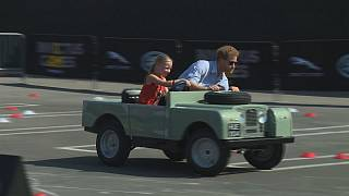 Prince Harry downsizes to a tiny Land Rover in Toronto