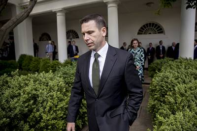 Acting Homeland Security Secretary Kevin McAleenan arrives for an immigration speech by President Donald Trump in the Rose Garden on May 16, 2019.