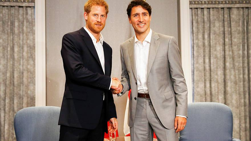 Prince Harry meets Trudeau, Melania Trump in Toronto