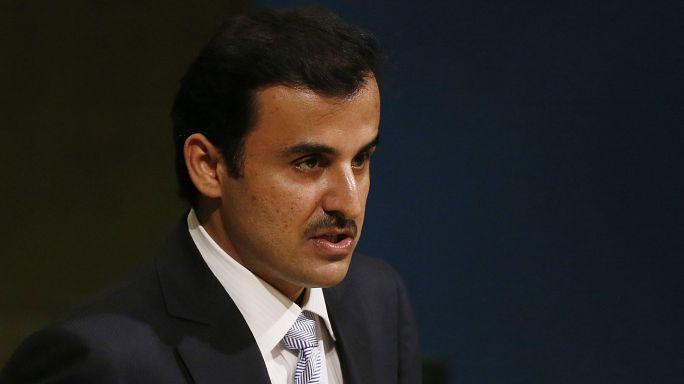 استقبال حافل لأمير قطر بعد عودته من نيويورك