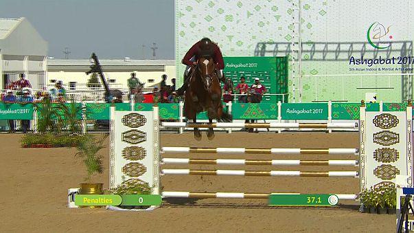 Aschgabat: Katar erfolgreich beim Springreiten