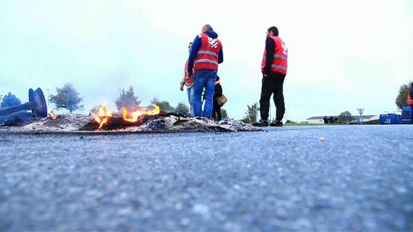 Tüntetnek a kamionsofőrök Franciaországban
