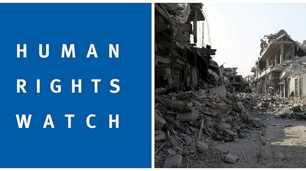 دیدبان حقوق بشر: نیروهای ائتلاف دهها غیرنظامی را در نزدیکی رقه کشته اند
