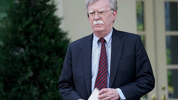 Image: National Security Advisor John Bolton Holds Briefing At The White Ho