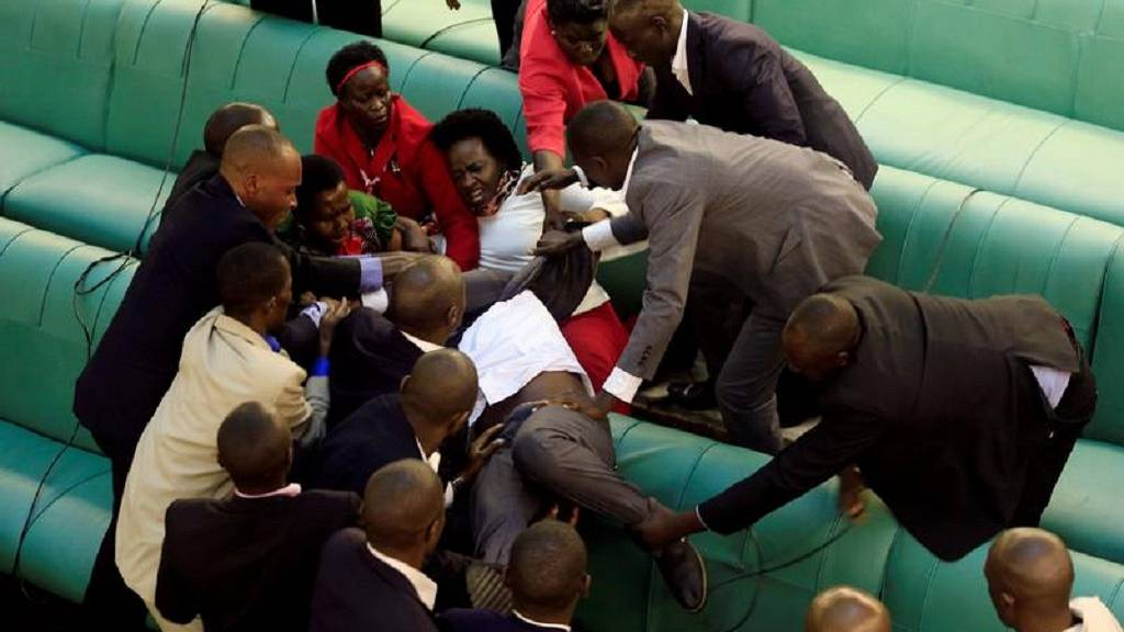 Ugandan legislators fight over motion to lift presidential age limit