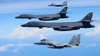 کره شمالی: بمبافکنهای آمریکایی را حتی خارج از حریم هوایی خود ساقط میکنیم
