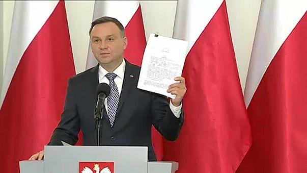 Új igazságügyi törvénytervezetet mutatott be a lengyel elnök