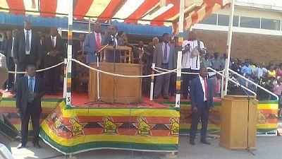 Mugabe warns 'economic saboteurs,' on arrival from U.N. summit