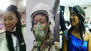 [Photos] Thokozile Muwamba: Zambia's first female fighter pilot in action