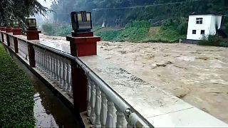 Alerta por inundaciones en la provincia china de Shaanxi