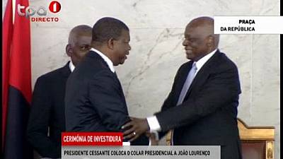 Angola begins post-dos Santos era as Lourenco is officially sworn in