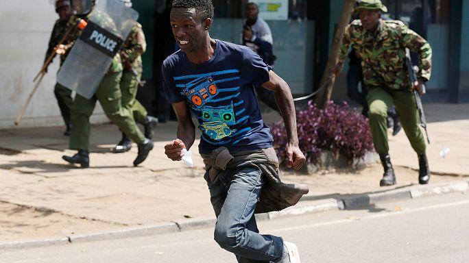 Manifestation de l'opposition dispersée à Nairobi