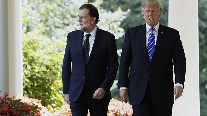 Trump recibe Rajoy en la Casa Blanca a cinco días del referéndum catalán