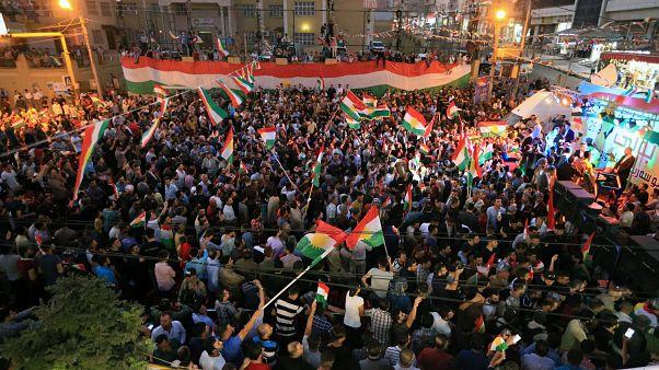 """Le président kurde irakien déclare la victoire du """"oui"""""""