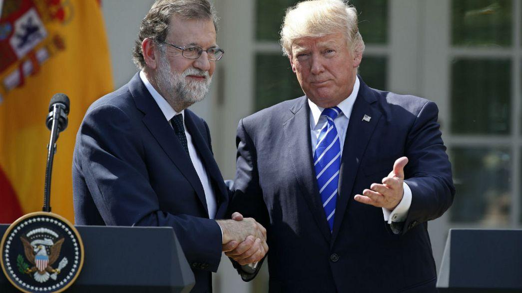 """Référendum en Catalogne : Trump pour une """"Espagne unie"""""""