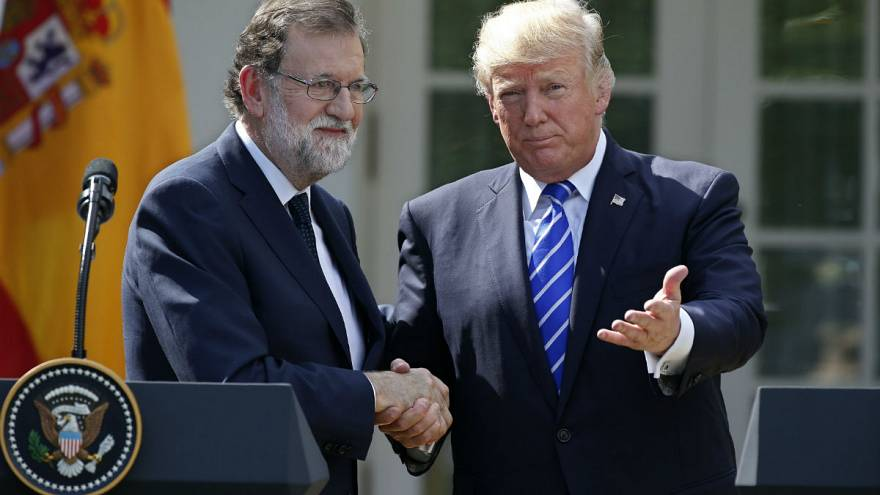 Rajoy wins Trump support over Catalonia