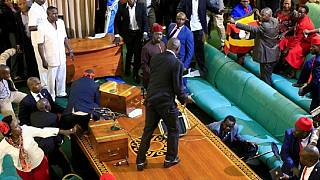 [Photos] Ugandan lawmakers busy with unparliamentary work