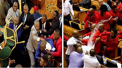 [Photos] Africa's chaotic parliaments: Uganda, South Africa