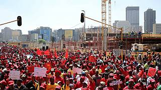 South African unions march against 'endemic' corruption under Zuma