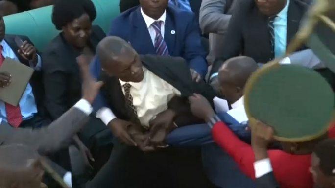 Драка в парламенте Уганды