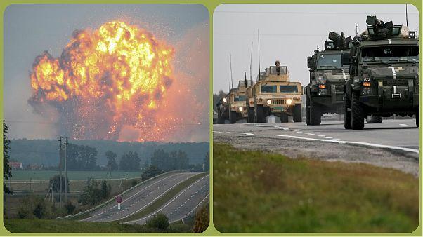 وقوع انفجار در انبار مهمات نظامی در اوکراین