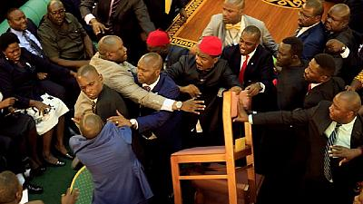 New chaos in Uganda parliament as speaker suspends 25 MPs