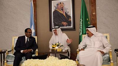 Somali president meets Saudi King amid tension over neutral position in Gulf crisis