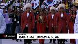 حفل اختتام دورة الألعاب الآسيوية في الصالات المغلقة في العاصمة التركمانية عشق آباد