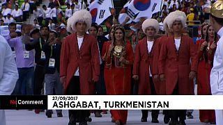 Aşkabat'taki kapanış seremonisi izleyenleri büyüledi