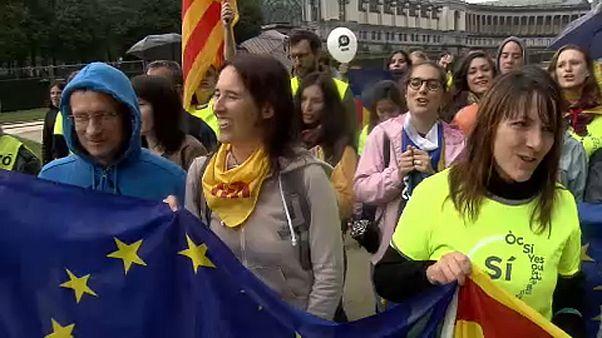 Каталонские сепаратисты агитируют в Брюсселе