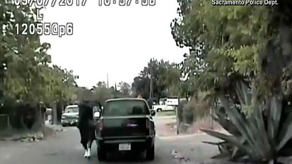 Polisin cinayet şüphelisini vurma anı kamerada