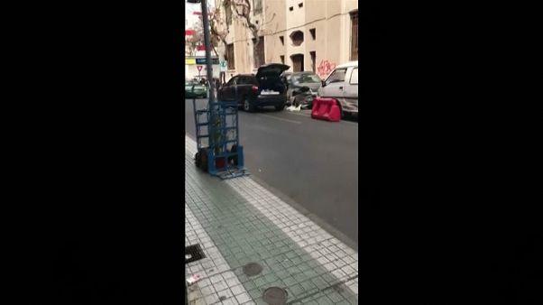 السائقة الهاربة في شوارع سانتياغو