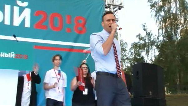 Alexéi Navalni graba el momento de su detención en Moscú