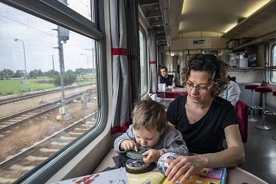 "Jana Masarykova, 40, is among the many Slovaks not planning to vote this week. ""We just follow the orders from Brussels,"" she said while traveling by train from Bratislava to Piešťany to visit her father with son, Matus. ""I don't think Slovaks can affect E.U. policy because we are a small country."" Masarykova said the European Union seemed remote from daily life. ""There\'s no connection with Slovakia, they don't care about local problems,"" she added."
