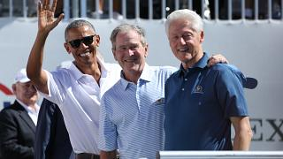 Presidents Cup: 3 Präsidenten in der Sonne und bei bester Laune