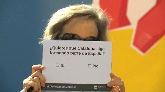 Jelképes népszavazás Madridban a spanyol egységért