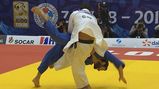 Amiran Papinashvili the star of the show at the Zagreb Judo Grand Prix