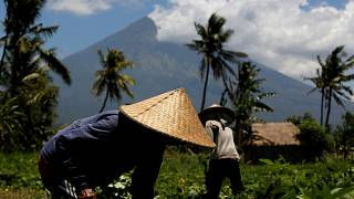 Más de 144.000 evacuados por el volcán Agung