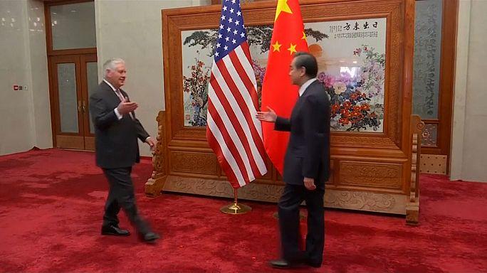 تيلرسون يلتقي الرئيس الصيني للضغط على كوريا الشمالية