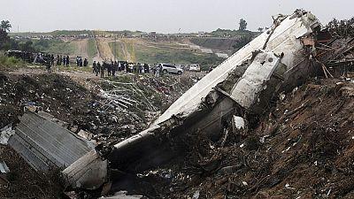 RD Congo: neuf morts dans le crash d'un avion militaire à Kinshasa