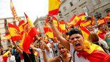 Espanhóis protestam contra o referendo