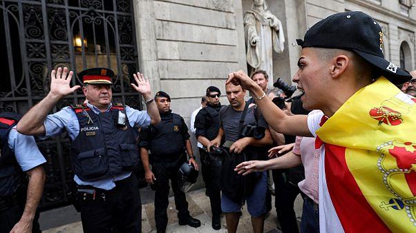 Altercados en las protestas contra el referéndum de Cataluña