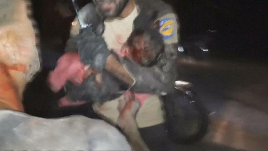 Жертвы авиаудара на севере Сирии